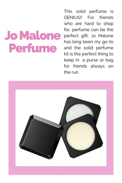nds always on the run.  #GiftsUnder100 #Under100 #GiftsILove #Friendship #Holiday #Scent #MyScent #JoMalone #HolidayFragrance