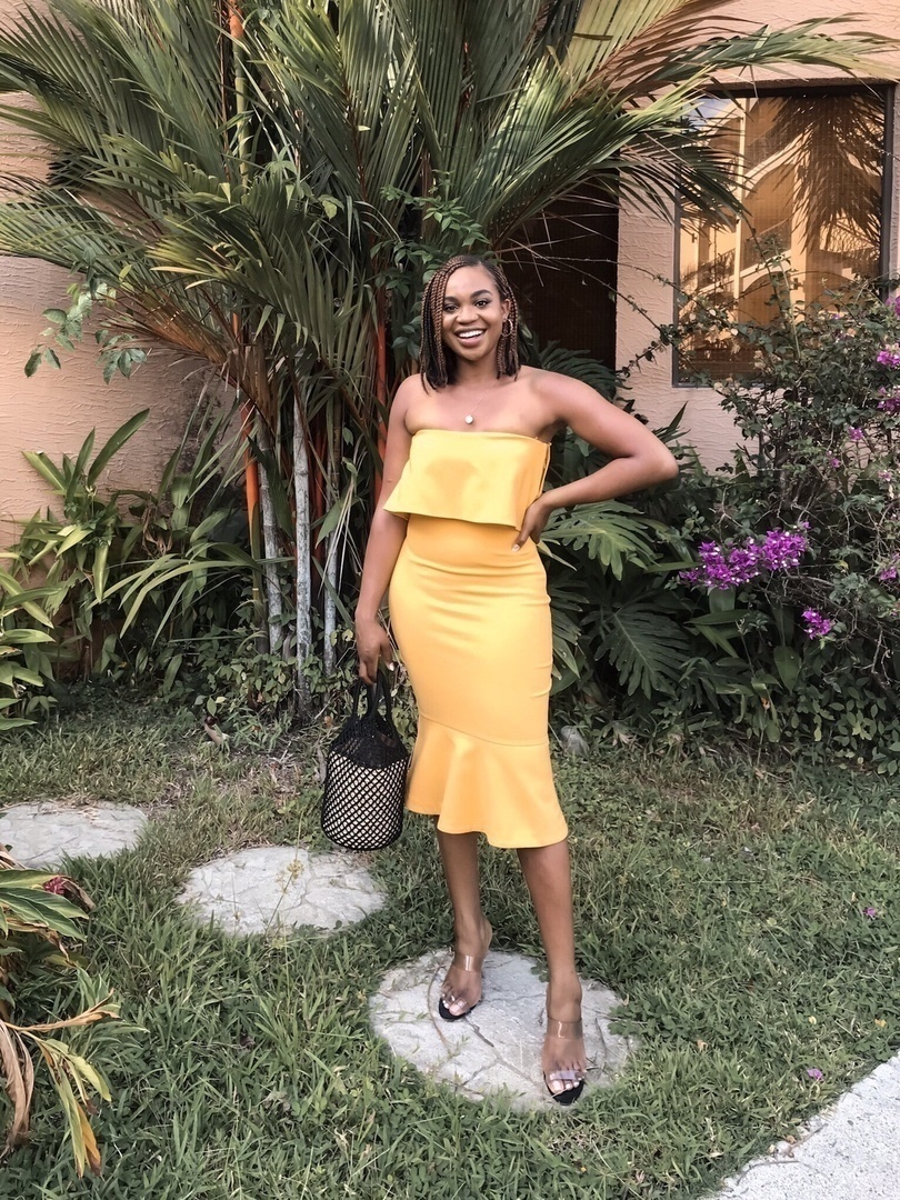 Show up the wedding in a yellow midi dress, you're welcome! #ShopStyle #MyShopStyle #LooksChallenge #ContributingEditor #Party