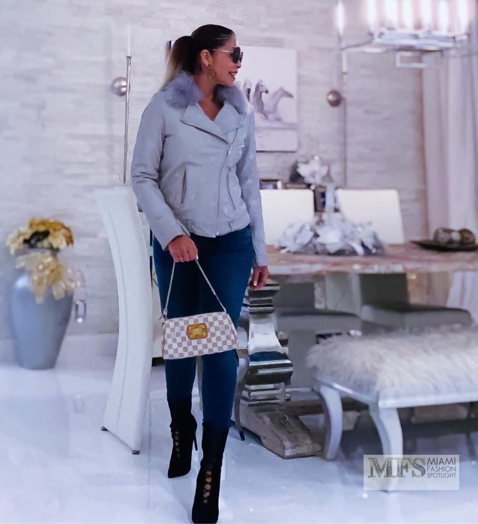 Look by Lissette Rondon  featuring Walter Baker Celine Faux Fur-trimmed Leather Jacket