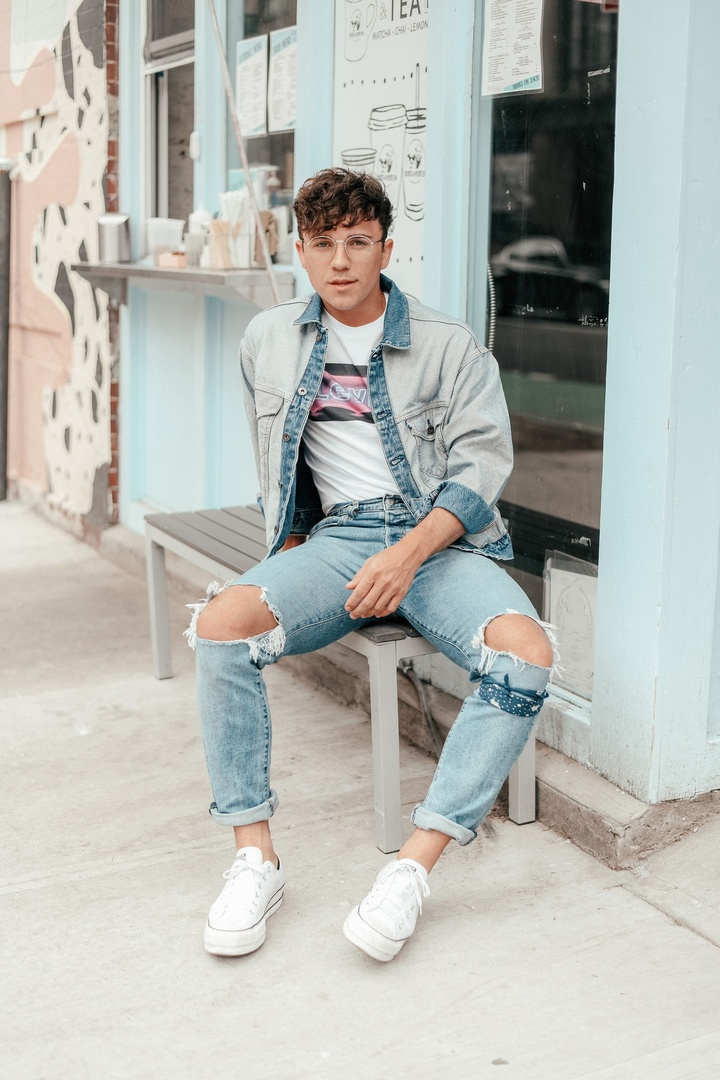 with this double denim look, now live over on my blog (www.scoutsixteen.com) with shop links. #LiveInLevis #Levis #501Day #ad