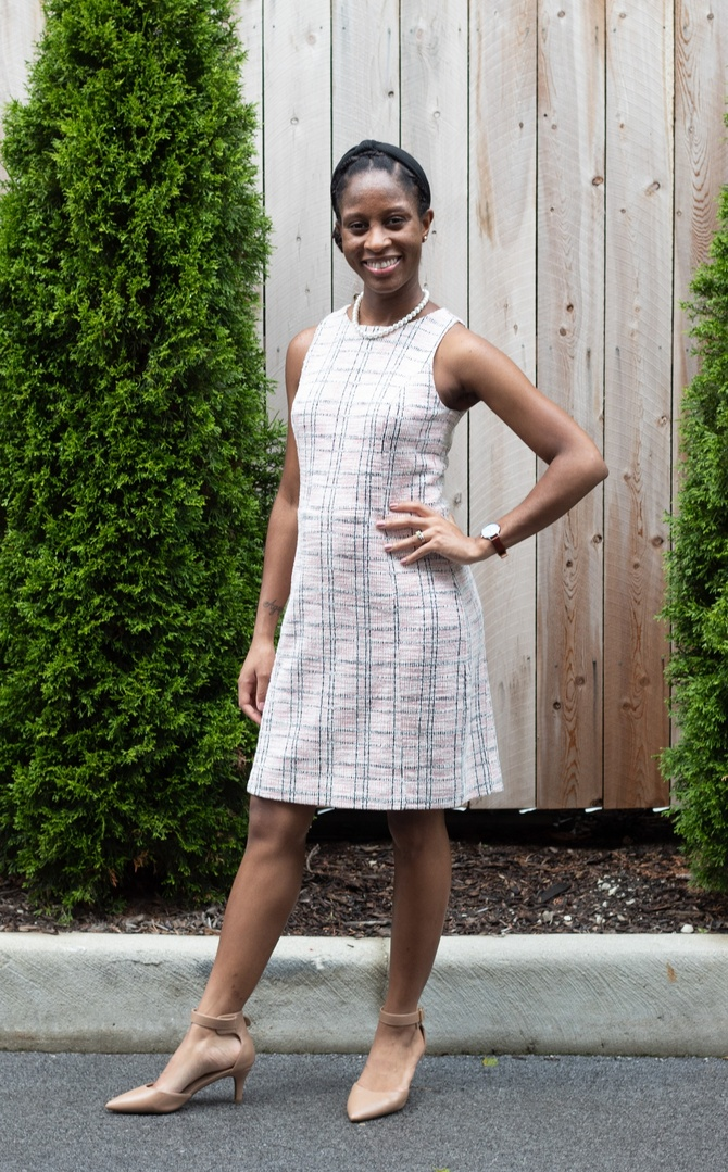 Look by Spring Davis featuring The Shirley DressCubist Jacquard
