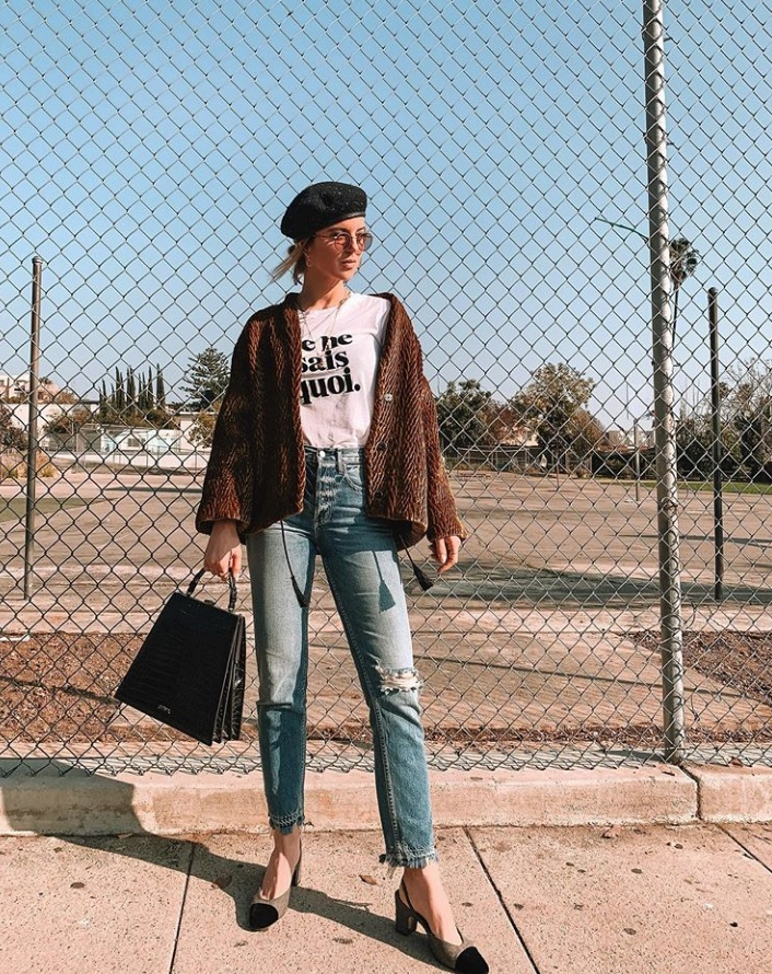 Look by Michelle Madsen featuring Carter Leather Beret