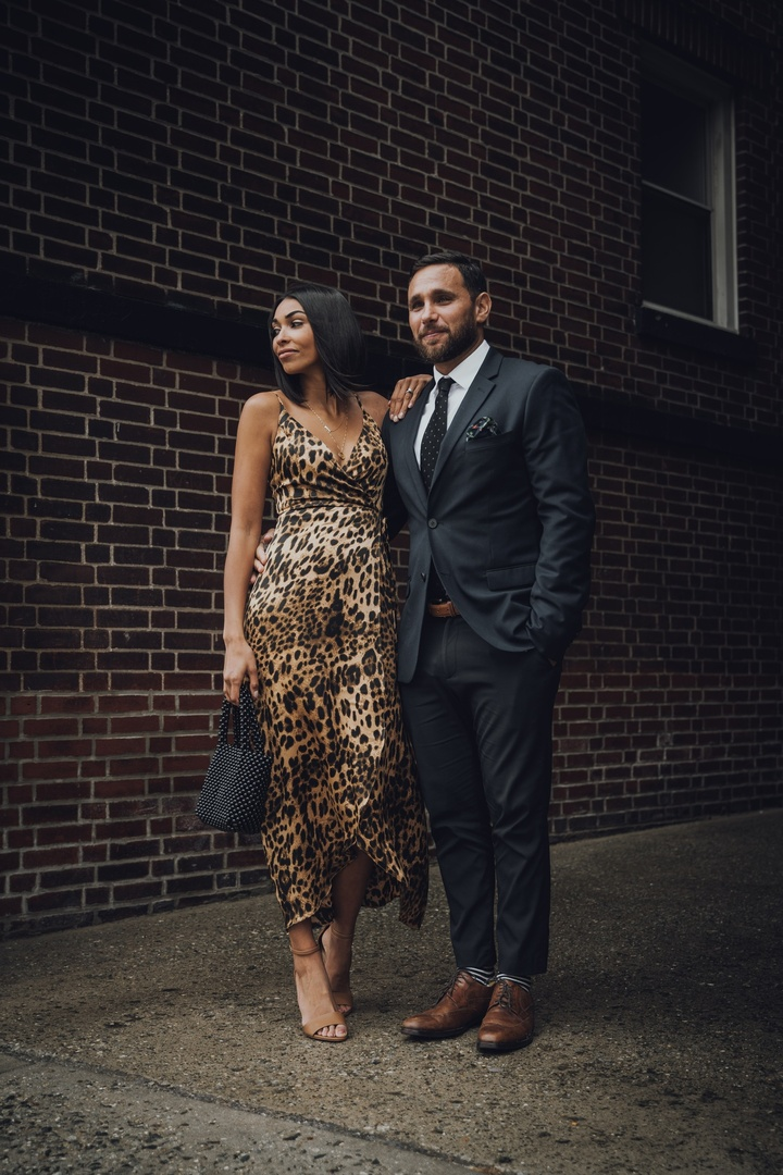 Wedding bound! Make a statement in a leopard slip dress and hubby in a slim fit HM suit to your next wedding.  #ShopStyle #MyShopStyle #ContributingEditor #Mens #Party